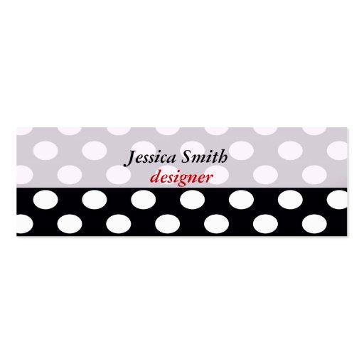 Proffesional elegant modern polka dots business card