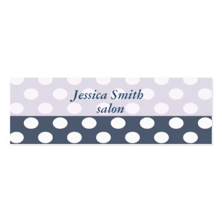 Proffesional elegant modern polka dots mini business card