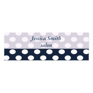 Proffesional elegant modern polka dots mini business card
