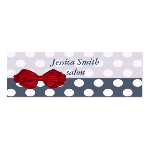 Proffesional elegant modern polka dots red bow business card template