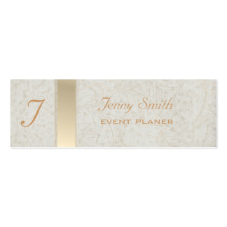 Proffesional elegant monogram mini business card