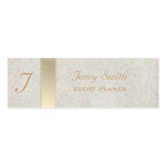 Proffesional elegant monogram mini business card