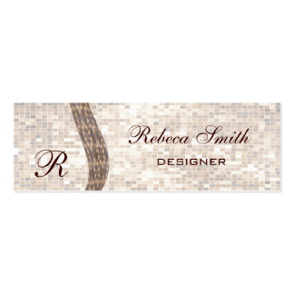 Proffesional elegant  monogram pack of skinny business cards