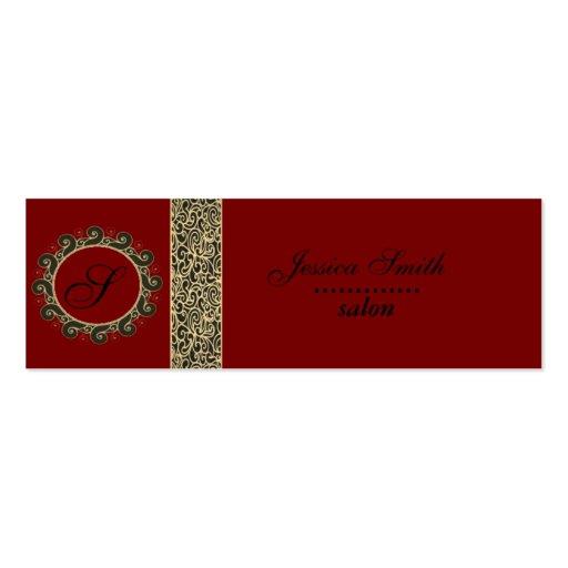Proffesional elegant plain  monogram business cards