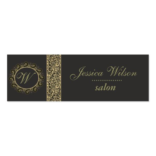 Proffesional elegant plain  monogram business card templates