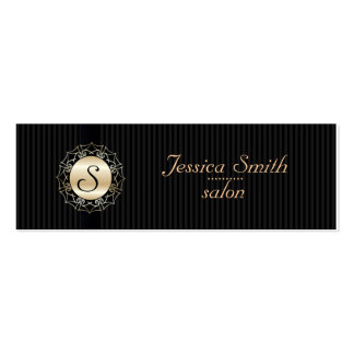 Proffesional elegant plain  monogram mini business card