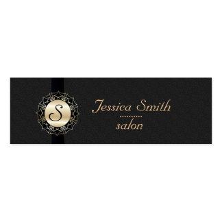 Proffesional elegant plain  monogram pack of skinny business cards