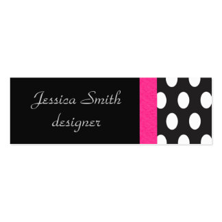 Proffesional elegant polka dots black mini business card