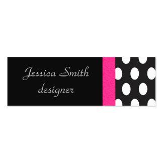 Proffesional elegant polka dots black pack of skinny business cards
