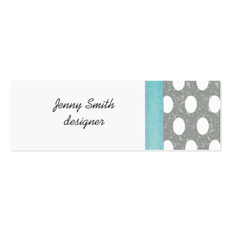 Proffesional elegant polka dots pack of skinny business cards