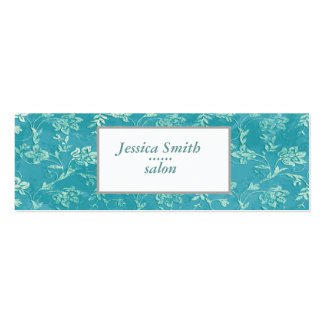 Proffesional elegant  vintage gentle floral mini business card