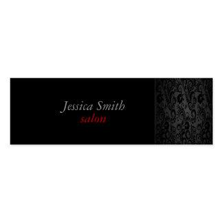 Proffesional glamorous elegant black roses pack of skinny business cards