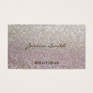 Proffesional glamorous elegant glittery business card
