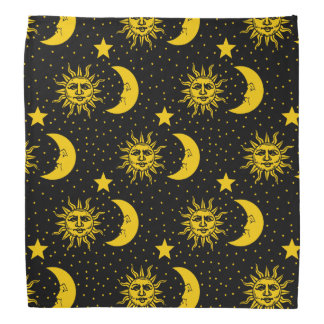 Profil sous convention astérisque vintage de lune foulard