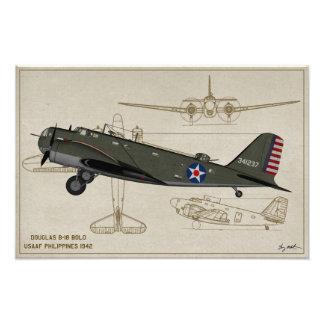 Profile Art USAAF B-18 Bolo Philippines 1941 Photo Print