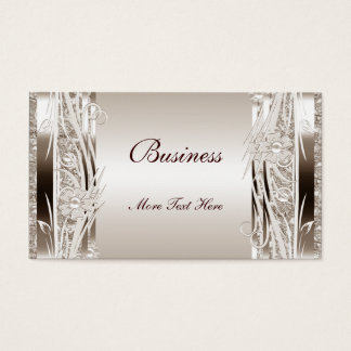 Profile Business Card Sepia Floral