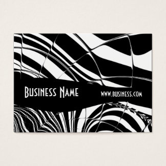 Profile Card Black & White Style Stripe Tile (1)