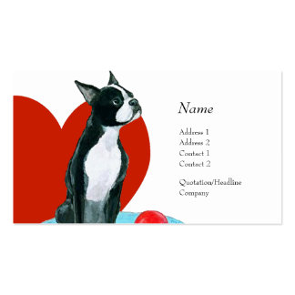 Profile Card - Boston Terrier Business Card