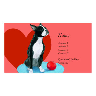 Profile Card - Boston Terrier Double-Sided Standard Business Cards (Pack Of 100)