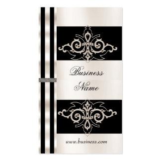Profile Card Business Art Deco Black Sepia Stripe Pack Of Standard Business Cards