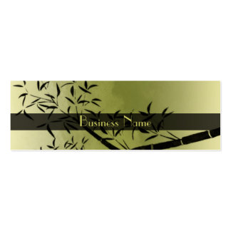 Profile Card Business Asian Green Black Business Cards