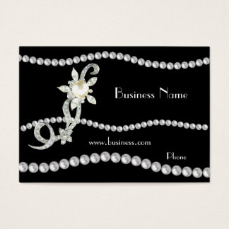 Profile Card Business Ornate Pearls Jewels (01420)