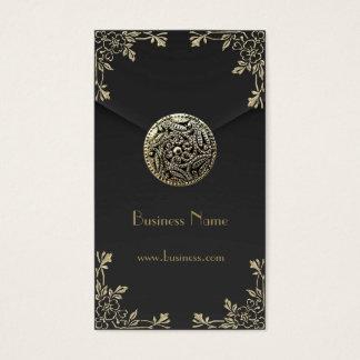 Profile Card Business Sepia Black Velvet