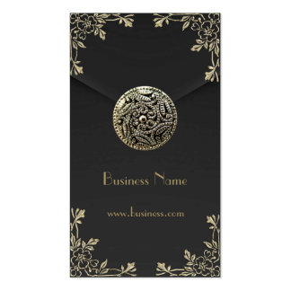 Profile Card Business Sepia Black Velvet Business Card