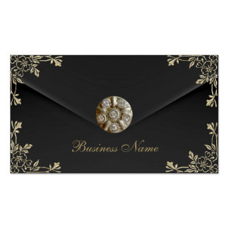 Profile Card Business Sepia Black Velvet Jewel Business Card