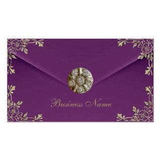 Profile Card Business Sepia Purple Velvet Jewel Business Card