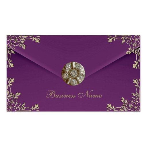 Profile Card Business Sepia Purple Velvet Jewel Business Card Template