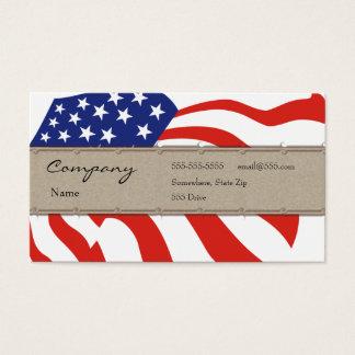 Profile Card - Decorative USA Flag