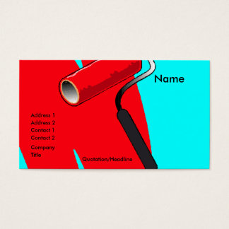 Profile Card Template - Paint Roller