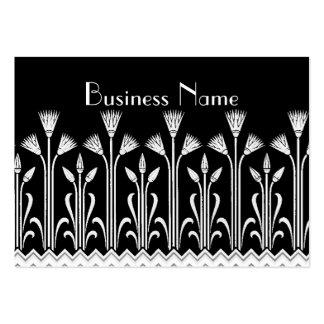 Profile Card Vintage Victorian Pattern Black White Large Business Card