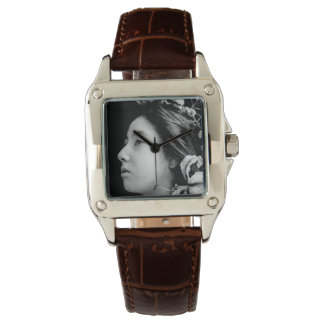 Profile of a Geisha Black and White Beauty Vintage Watch