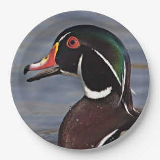 Profile of A Wood duck Paper Plate