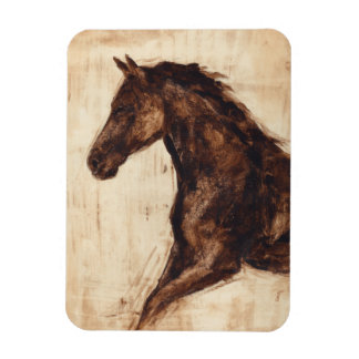 Profile of Brown Wild Horse Magnet