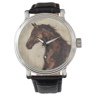 Profile of Brown Wild Horse Wristwatches