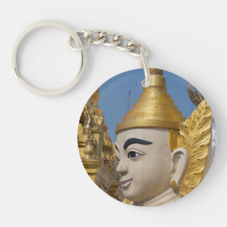 Profile Of Buddha Statue Keychain