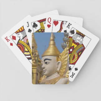 Profile Of Buddha Statue Playing Cards