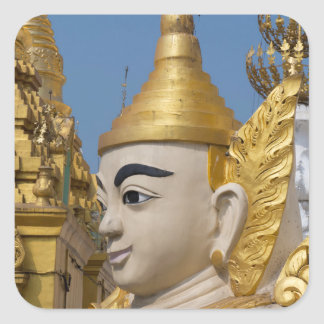 Profile Of Buddha Statue Square Sticker