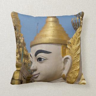 Profile Of Buddha Statue Throw Pillow