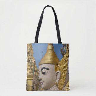 Profile Of Buddha Statue Tote Bag