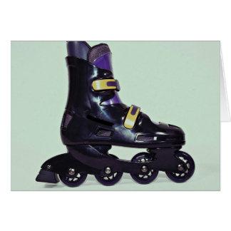 Profile of in-line skates shoe card