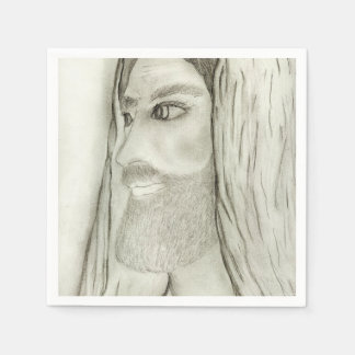 Profile of Jesus Paper Napkins