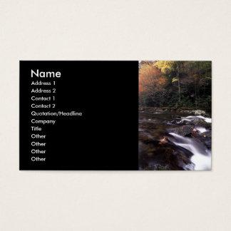 profile or business card, landscape & cascade business card