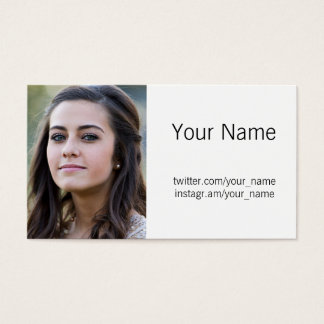 Profile Photo Business Card