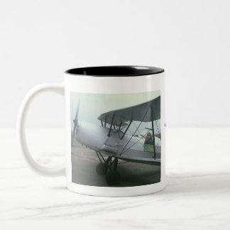 Profile, Profile, Flying Jack Two-Tone Coffee Mug