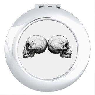 Profile Skull Black and White Mirror