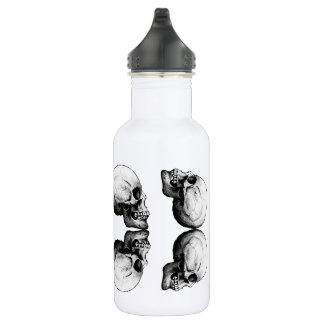Profile Skull X4 Black And White Protective Bones 532 Ml Water Bottle